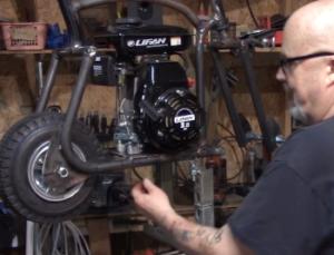 Mounting Engine On A Custom Mini Bike or Motorized Bicycle or Board Track Replica