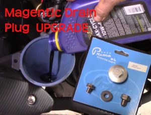 50cc Scooter Upgrade Magnetic Oil Plugs & How To Change Engine & Transmission Oils